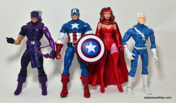 Marvel Legends Captain America review -scale with Hawkeye, Scarlet Witch and Quicksilver