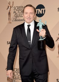 LOS ANGELES, CA - JANUARY 30: Actor Kevin Spacey, winner of the Male Actor in a Drama Series award for 'House of Cards' poses in the press room during The 22nd Annual Screen Actors Guild Awards at The Shrine Auditorium on January 30, 2016 in Los Angeles, California. 25650_015 (Photo by Jason Merritt/Getty Images for Turner) *** Local Caption *** Kevin Spacey