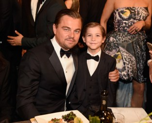 LOS ANGELES, CA - JANUARY 30: Leonardo DiCaprio and Jacob Tremblay attend The 22nd Annual Screen Actors Guild Awards at The Shrine Auditorium on January 30, 2016 in Los Angeles, California. 25650_012 (Photo by Kevin Mazur/Getty Images for Turner) *** Local Caption *** Leonardo DiCaprio;Jacob Tremblay