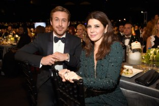 LOS ANGELES, CA - JANUARY 30: Ryan Gosling and Marisa Tomei attend The 22nd Annual Screen Actors Guild Awards at The Shrine Auditorium on January 30, 2016 in Los Angeles, California. 25650_012 (Photo by Kevin Mazur/Getty Images for Turner) *** Local Caption *** Ryan Gosling;Marisa Tomei