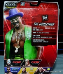 WWE Elite The Godfather review -rear package