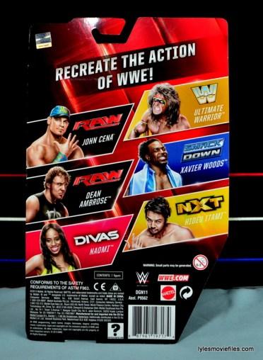 WWE Mattel Basic Naomi figure review - back package