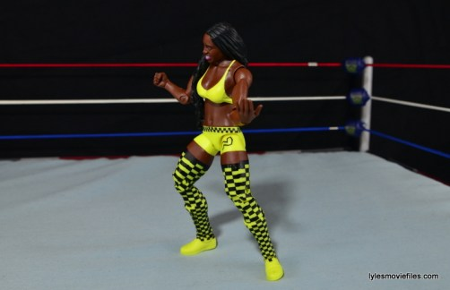 WWE Mattel Basic Naomi figure review -posing in ring