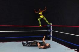 WWE Mattel Basic Naomi figure review -top rope splash