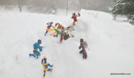 X-Men vs Omega Red - mountain snow battle