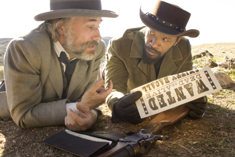 CHRISTOPH WALTZ and JAMIE FOXX star in DJANGO UNCHAINED