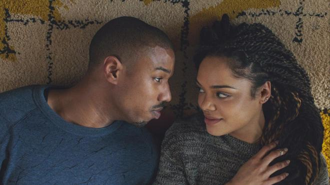 creed - michael b jordan and tessa thompson