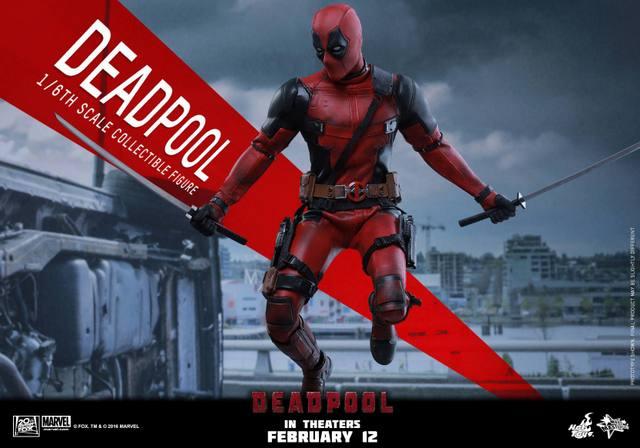 Hot Toys Deadpool figure -leaping swords