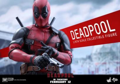 Hot Toys Deadpool figure - stroking gun