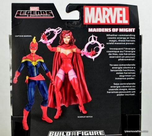Marvel Legends Captain Marvel figure review - back package