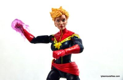Marvel Legends Captain Marvel figure review - charging up