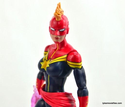 Marvel Legends Captain Marvel figure review - profile shot