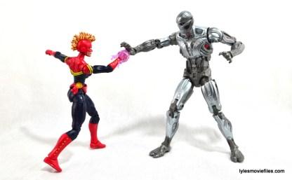 Marvel Legends Captain Marvel figure review - vs Ultron