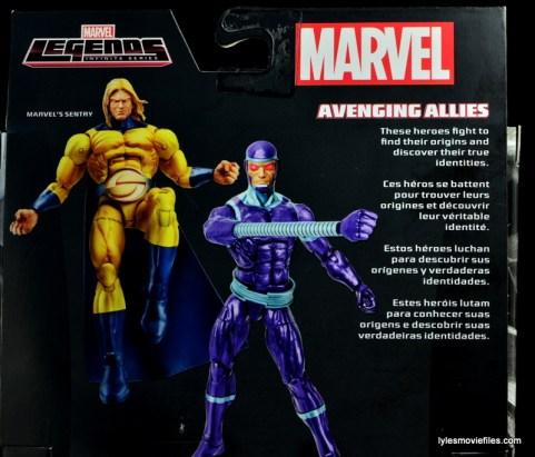 Marvel Legends Sentry figure review - bio close up