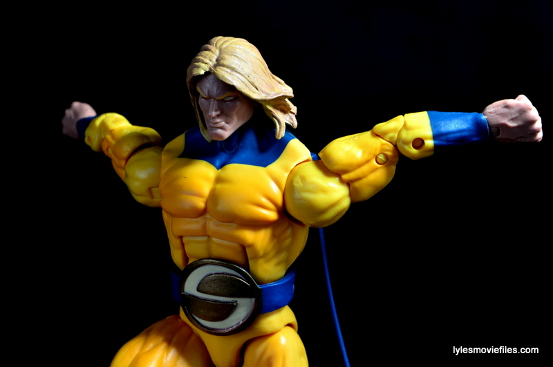 Marvel Legends Sentry figure review - landing