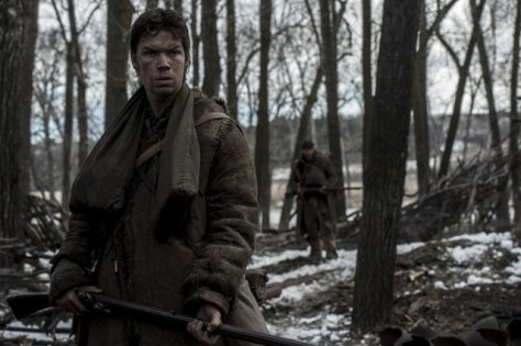 Will Poulter portrays legendary mountain man Jim Bridger in the REVENANT.Copyright © 2015 Twentieth Century Fox Film Corporation. All rights reserved. THE REVENANT Motion Picture Copyright © 2015 Regency Entertainment (USA), Inc. and Monarchy Enterprises S.a.r.l. All rights reserved.Not for sale or duplication.