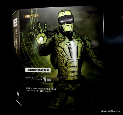 Comicave Studios Iron Man Shades figure review - front package