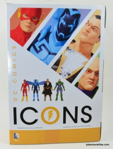 DC Icons Black Adam review - rear package