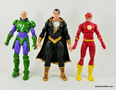DC Icons Black Adam review - scale with Luthor and The Flash