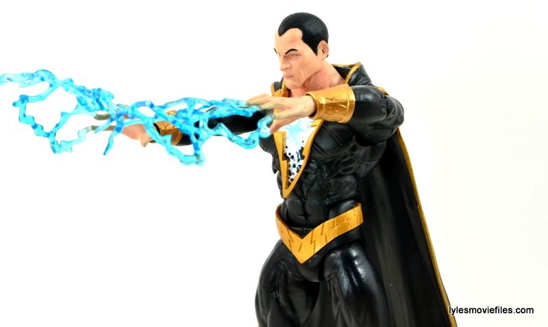 DC Icons Black Adam review - using lightning