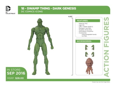 DC Icons Swamp Thing accessories