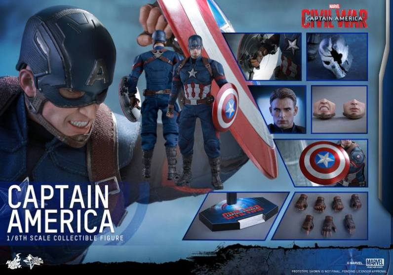 Hot Toys Captain America Civil War Captain America figure -collage