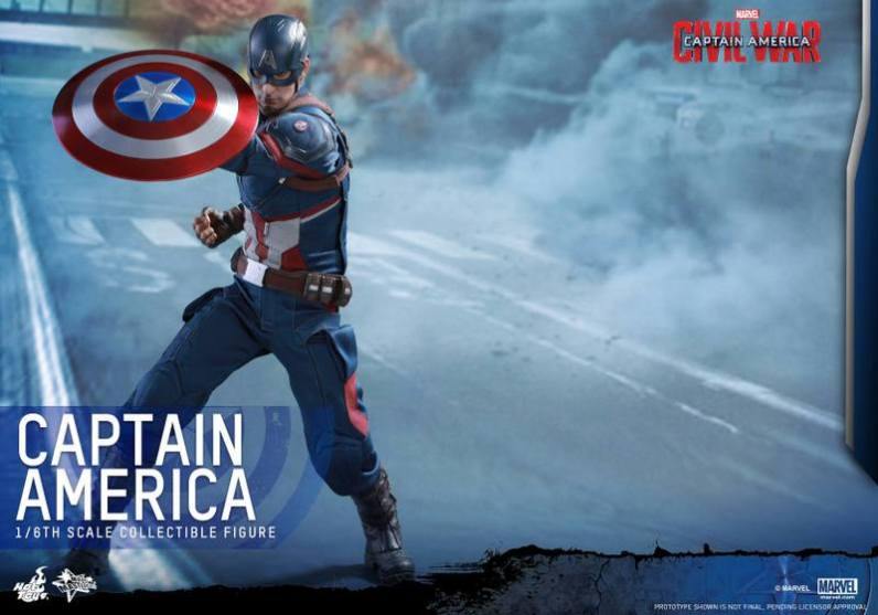 Hot Toys Captain America Civil War Captain America figure -wide shield shot