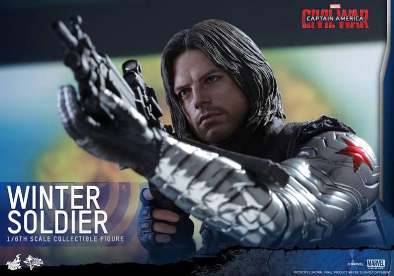 Hot Toys Captain America Civil War Winter Soldier figure -aiming