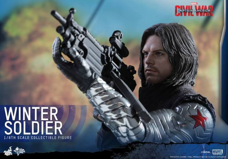 Hot Toys Captain America Civil War Winter Soldier figure -taking aim