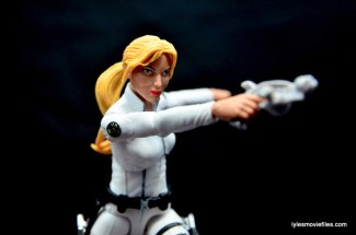 Marvel Legends Sharon Carter figure review - aiming shot