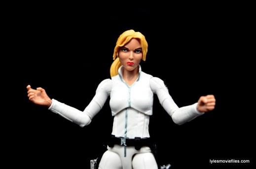 Marvel Legends Sharon Carter figure review - elbow articulation