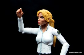 Marvel Legends Sharon Carter figure review - elbow range