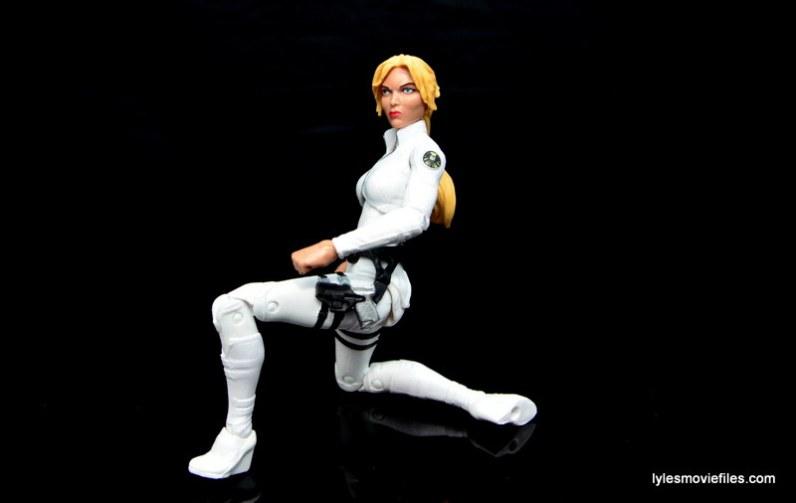 Marvel Legends Sharon Carter figure review - kneeling
