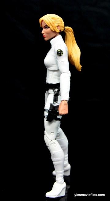 Marvel Legends Sharon Carter figure review - left side