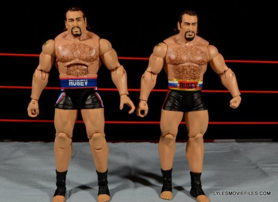 Mattel WWE Lana and Rusev Battle Pack -Elite 34 Rusev and Basic Rusev