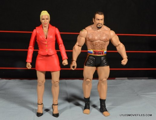 Mattel WWE Lana and Rusev Battle Pack -Lana and Rusev front detail