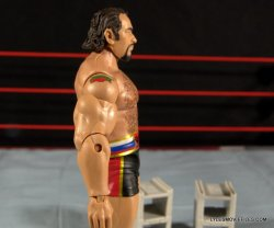 Mattel WWE Lana and Rusev Battle Pack -Rusev right side detail with blocks