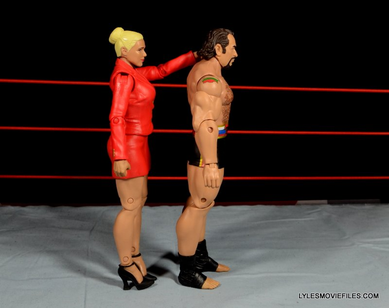 Mattel WWE Lana and Rusev Battle Pack -right side detail