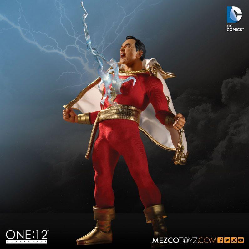 Mezco One 12 Shazam figure - lightning strike