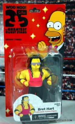 The Simpsons NECA Bret Hart - package front
