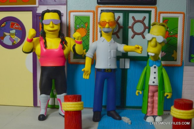 The Simpsons NECA Stan Lee figure -Bret Hart, Stan Lee and Professor Frink