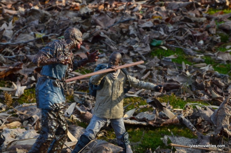The Walking Dead Morgan Jones McFarlane Toys figure review -fighting walker