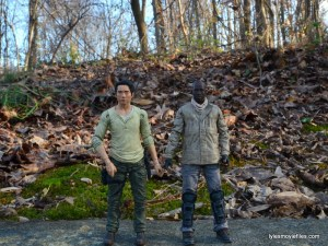 The Walking Dead Morgan Jones McFarlane Toys figure review -scale with Glenn