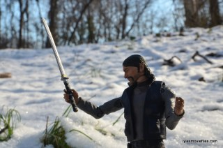 The Walking Dead The Governor McFarlane Toys review -raising Michonne's sword