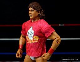 Tito Santana Mattel Hall of Fame figure -left side T-shirt detail