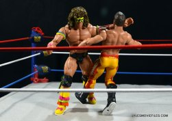 Ultimate Warrior Hall of Fame figure -clotheslining Rude