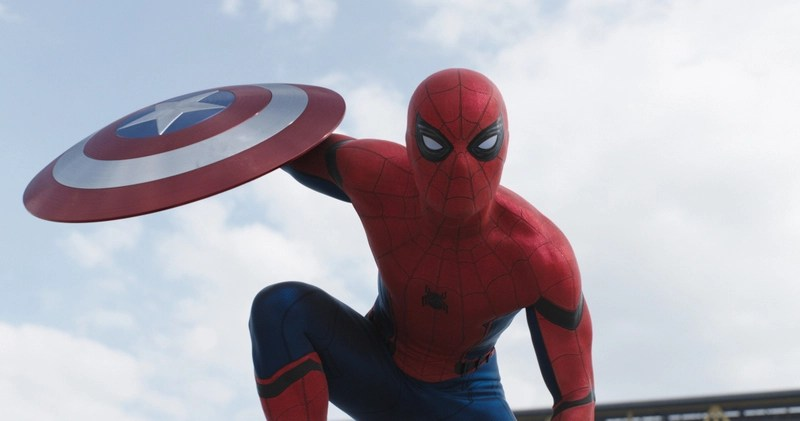 Tom Holland as Spider-Man in Captain America Civil War - Spider-Man closeup