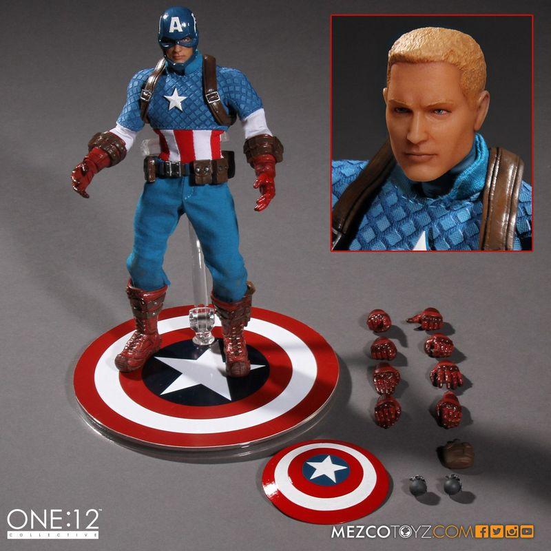 Captain America Mezco Toys 1-12 figure -accessories