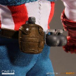 Captain America Mezco Toys 1-12 figure -canteen and grenades
