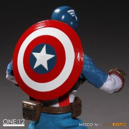 Captain America Mezco Toys 1-12 figure -shield on back